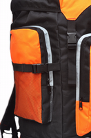 Extra Large foolsGold® Hiking Camping Travel Backpack - Black/Orange